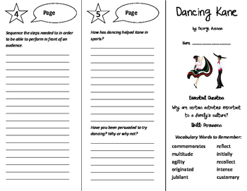 Dancing Kane Trifold - Journeys 6th Grade Unit 2 Week 2