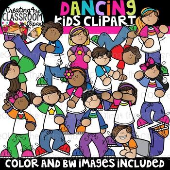 Dancing Kids Clipart {School Clipart}
