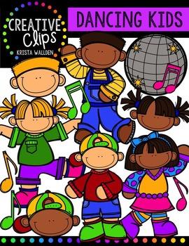 Dancing Kids {Creative Clips Digital Clipart}