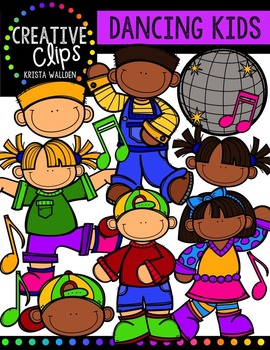 Dancing Kids {Creative Clips Digital Clipart}
