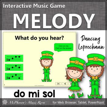 Dancing Leprechaun Do Mi Sol {Interactive Melody Game}