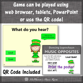 St. Patrick's Day Music: Loud Quiet Interactive Music Game {Dancing Leprechaun}