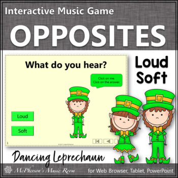 Dancing Leprechaun Dynamics Loud Soft {Interactive Music Game}