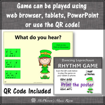 St. Patrick's Day Music: Half Notes Interactive Rhythm Game {Dancing Leprechaun}