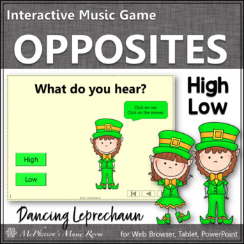 St. Patrick's Day Music: High Low Interactive Music Game {Dancing Leprechaun}