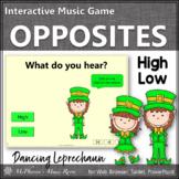 St. Patrick's Day Music: High Low Interactive Music Game {Dancing Leprechaun}
