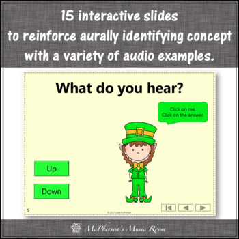Dancing Leprechaun Melodic Direction Up Down {Interactive Music Game}