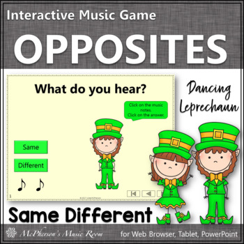 Dancing Leprechaun Same Different {Interactive Music Game}