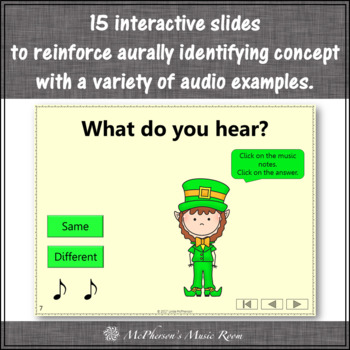 St. Patrick's Day: Same Different Interactive Music Game {Dancing Leprechaun}