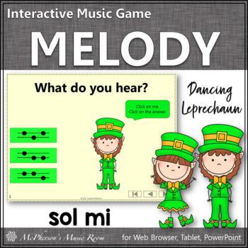 Dancing Leprechaun Sol Mi {Interactive Melody Game}
