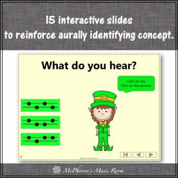 St. Patrick's Day Music: Sol Mi Interactive Melody Game {Dancing Leprechaun}