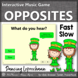 St. Patrick's Day Music: Fast Slow Interactive Music Game {Dancing Leprechaun}