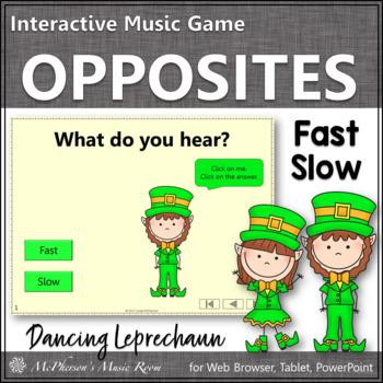 St. Patrick's Day Music: Fast Slow Interactive Music Game {Dancing Leprechaun}