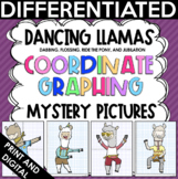 Dancing Llamas Coordinate Graph Mystery Pictures - Dabbing