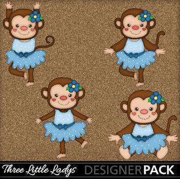 Dancing Monkeys in blue