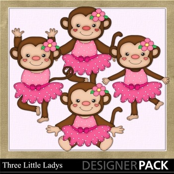 Dancing Monkies in Pink