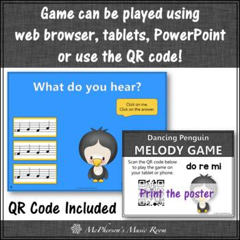 Winter Music Game: Solfa Do Re Mi Interactive Music Game {Dancing Penguin}