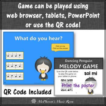 Winter Music Game: Solfa Sol Mi Interactive Music Game {Dancing Penguin}