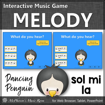 Winter Music Game: Solfa Sol Mi La Interactive Music Game {Dancing Penguin}