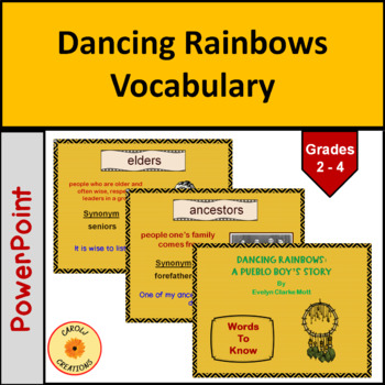 Dancing Rainbows Vocabulary PowerPoint