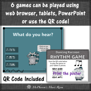 Dancing Rhythm - Interactive Music Games {Bundle} raccoon