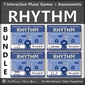 Rhythm Games: Interactive Music Games & Assessments Bundle {Dancing Spider}