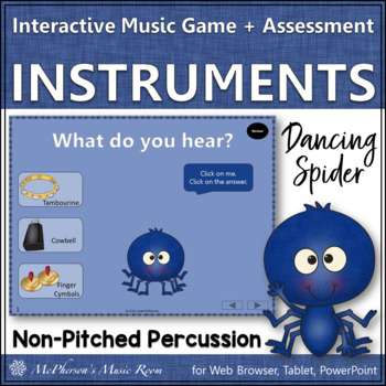 Dancing Spider Non-Pitched Percussion {Interactive Music Game & Assessment}