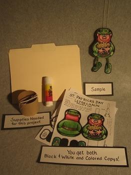 Dancing St. Patricks Day Leprechaun. Fun Two Sided Craft Art