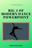 """Dancing Through History: The """"Big 4"""" of Modern Dance Powerpoint"""