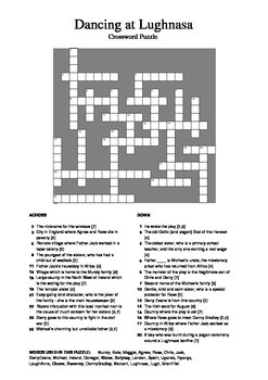 Dancing at Lughnasa - Crossword Puzzle
