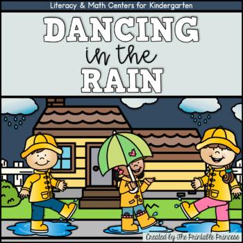 Dancing in the Rain! {April Literacy & Math Centers for Ki