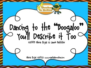 "Dancing to the ""Boogaloo"" You'll Describe it Too – Songbook Mp3 Digital Download"