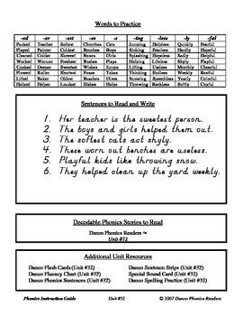 Danco Phonics Unit #32 - Suffixes