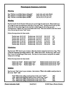 Danco Phonics Unit #5 & 6 - k, -ck