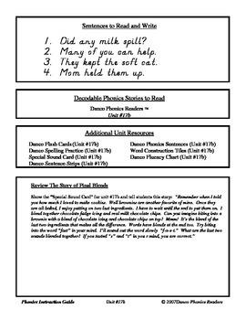 Danco Phonics Units 17b, 18, and 19a (76 Pages)
