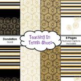 Dandelion Background White and Gold BUNDLE