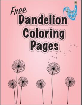Dandelion Coloring Pages