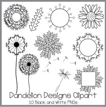 Dandelion Designs Clipart