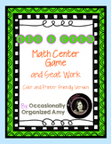 Odd and Even Gumball Math Center and Printable FREEBIE