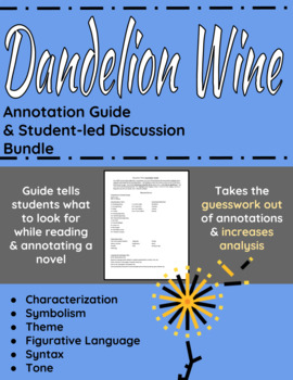 Dandelion Wine Annotation Guide and Student-led Discussions