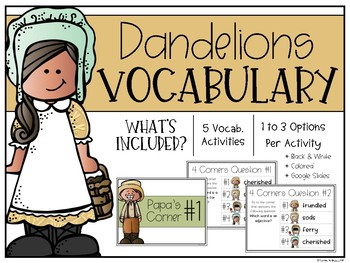 Dandelions Vocabulary Unit