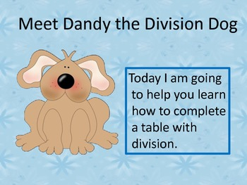 Using Division to Complete a Table