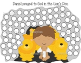 Daniel in the Lion's Den dot paint pages- Bible story activity