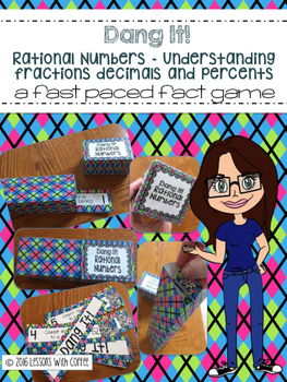 Dang It-A Rational Number Review Math Game-similar to Zap