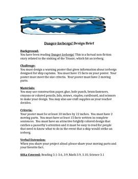 Danger Icebergs! STEM Children's Engineering Design Brief