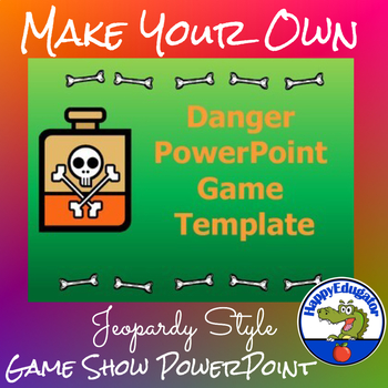 Jeopardy Style Game Template - Danger