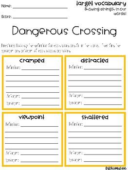 Dangerous Crossing Vocabulary Grids