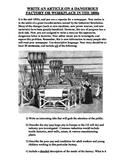 Dangerous Factory Article Project (pdf)- Common Core Aligned
