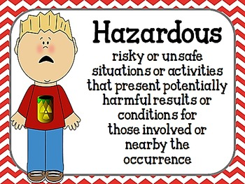 Dangerous, Hazardous, or Toxic?  L.3.5.B & L.2.5.A