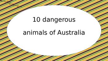 Dangerous animals of Australia